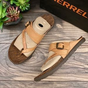 NIB Merrell Around Town Luxe Buckle Thong Sandal